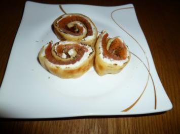 Pfannkuchen-Lachsrolle - Rezept