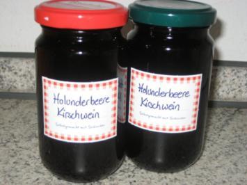 Holunderbeer-Kirschwein-Gelee - Rezept
