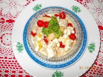 Thunfischsalat mit Bohnen +Fetakäse - Rezept