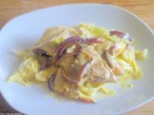 Gratinierte Schweineschnitzel auf Spitzkohl - Rezept