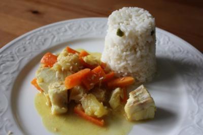 Fruchtiges Fisch-Curry - Rezept