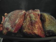 Rinderbraten vom Angus-Rind an einer leckeren Rotweinsosse - Rezept