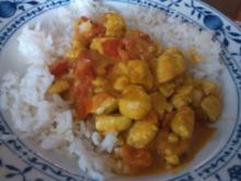 Curry-Hähnchen mit Tomaten - Rezept