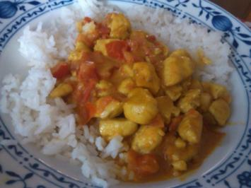 Rezept: Curry-Hähnchen mit Tomaten