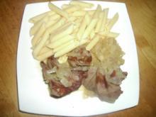 Zwiebelfleisch vom Reh - Rezept
