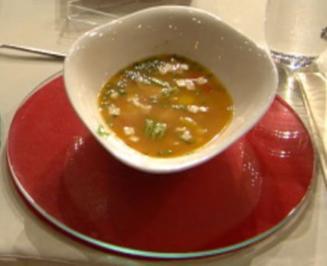Flussfisch-Suppe mit Krokodil à la Jakumeit - Rezept