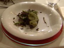 Filet vom Strauß in Kräuterkruste mit Bohnen à la Jakumeit - Rezept