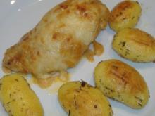 Hähnchenbrustfilet mit Tomaten- Käsesauce überbacken - Rezept