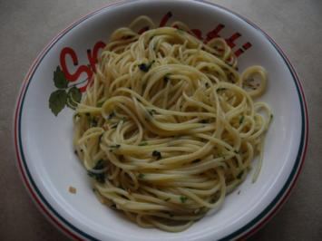 Spaghetti aglio, olio e peperoncino - Rezept