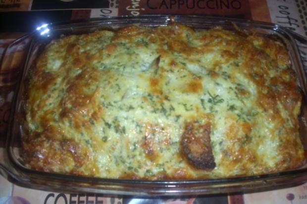 Brotauflauf mit viel Käse - Rezept