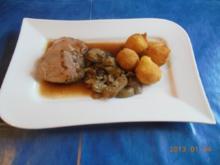 Kochen:Schweinefilet mit Steinpilzen und Kartoffelbällchen - Rezept