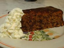 Tiroler Walnusskuchen mit Schokoladen Ganache - Rezept