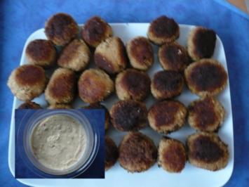 Thunfisch - Bällchen mit Dip - Rezept
