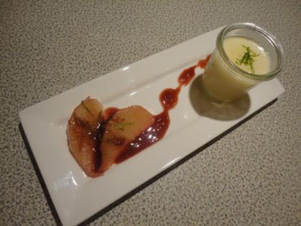 Limetten Panna Cotta mit Portwein Pomelos - Rezept