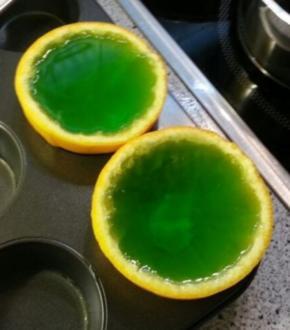 Wackelpudding-Orangen - Rezept