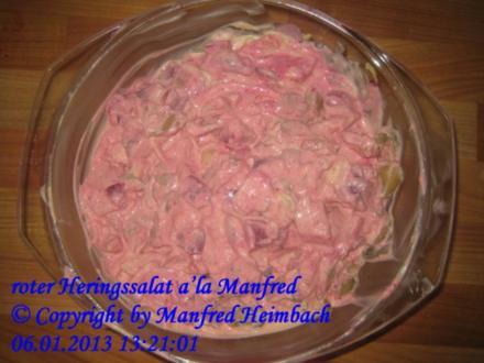 Fisch – roter Heringssalat a'la Manfred - Rezept