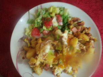 Bratkartoffel-Eier Pfanne - Rezept