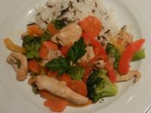 Asiatische Hähnchenpfanne mit Gemüse - Rezept
