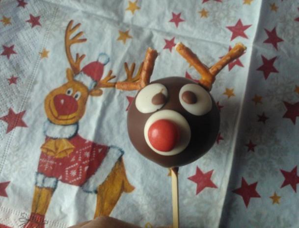 Rudolph Cake Pops - Rezept