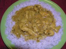 Annanas-Curry-Geschnetzeltes mit Kokosmilch - Rezept
