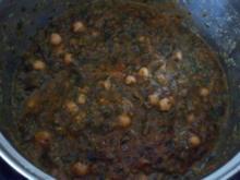 Spinat mit Kichererbsen - Rezept