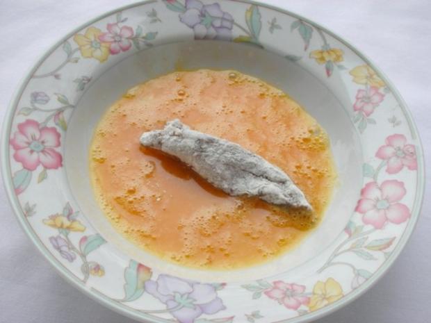 Marinierte Hähnchen-Streifen umhüllt von Sesampanade mit Fächerkartoffeln - Rezept - Bild Nr. 8