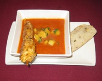 Indische Tomatencremesuppe - Rezept