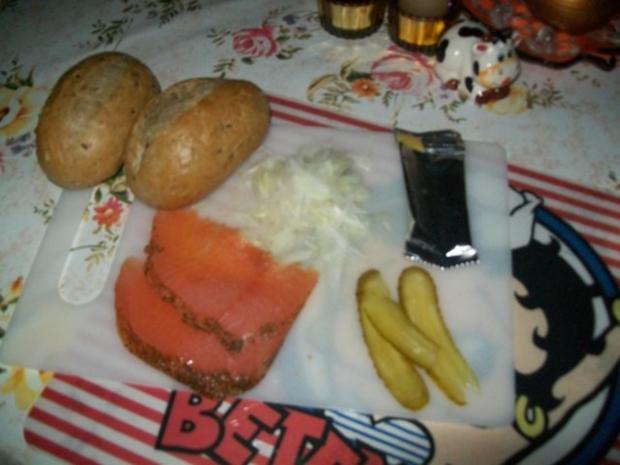 Annanas- Bowle - Käse - Stückchen & Lachs - Brötchen - Rezept - Bild Nr. 6