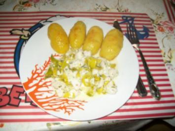 Irenes Fischragout  mit angebraten  Kartoffelhälften - Rezept