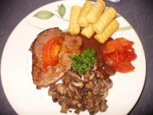 Rinderfiletsteak mit Champignons - Rezept