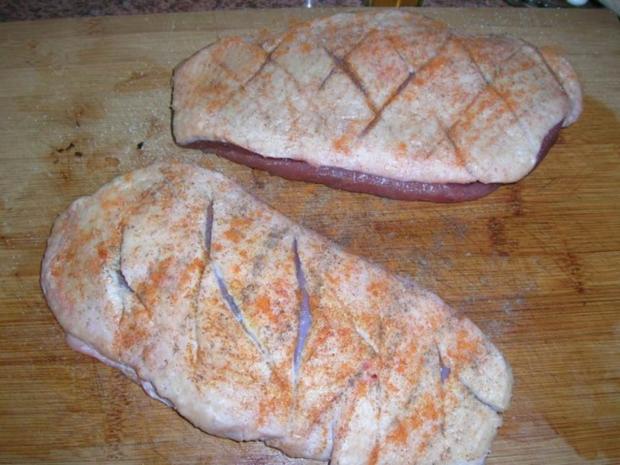 Entenbrust mit Granatapfelsauce und Walnüssen - Rezept - Bild Nr. 5