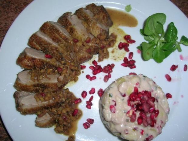 Entenbrust mit Granatapfelsauce und Walnüssen - Rezept - Bild Nr. 3
