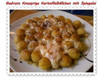 Kartoffeln: Knusprige Kartoffelbällchen mit Spiegelei - Rezept