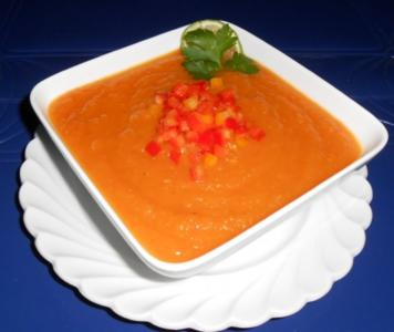 Karotten-Ingwer-Mango-Suppe - Rezept