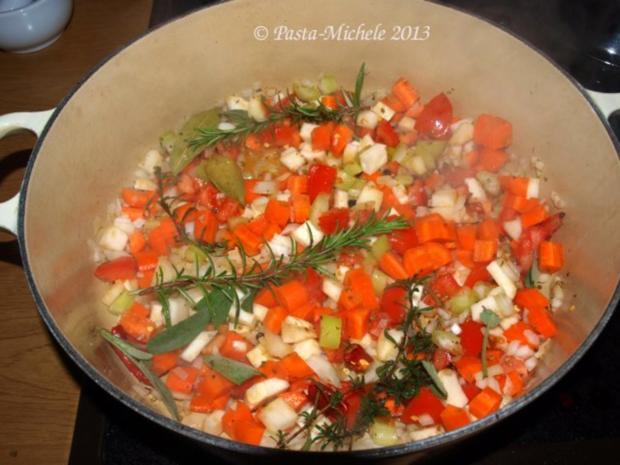 Kalbfleisch mit weißen Bohnen                 (Vitello con fagioli bianchi) - Rezept - Bild Nr. 5
