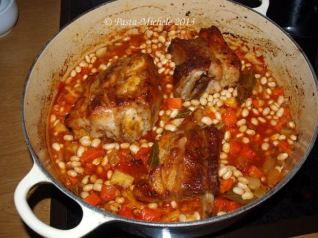 Kalbfleisch mit weißen Bohnen                 (Vitello con fagioli bianchi) - Rezept - Bild Nr. 6