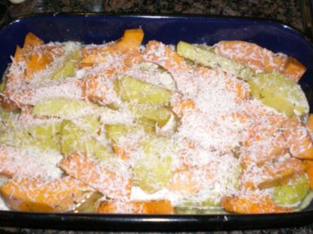 Gebackene Kürbis-Kartoffeln - Rezept