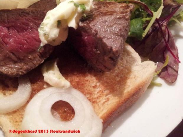 All American Steak Sandwich Toast - Rezept