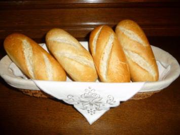 Rezept: Brot & Brötchen : Dinkel - Baguett - Brötchen
