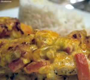 Überbackenes Tikka-Curry-Huhn - Rezept
