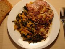 Feuriger Wirsing zu Kasseler Steaknacken - Rezept