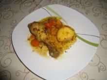 Hähnchenschenkel geschmort - Rezept