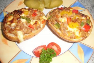 ❤ Hackfleisch - Pizzabrötchen ❤ - Rezept