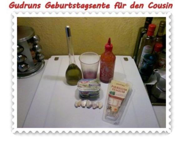Geflügel: Kräuterschlemmerente mit Ofengemüse, Gorgonzolasoße und Klöße - Rezept - Bild Nr. 2
