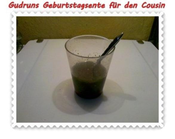 Geflügel: Kräuterschlemmerente mit Ofengemüse, Gorgonzolasoße und Klöße - Rezept - Bild Nr. 3