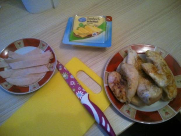 Gefüllte Hähnchenbrust mit Käse - Rezept