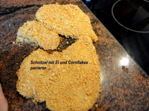 Geflügel:   HÄHNCHENSCHNITZEL mit Knusperpanade - Rezept - Bild Nr. 7