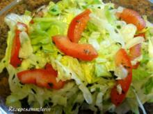 Salatbar:   EISBERG-TOMATEN-SALAT - Rezept