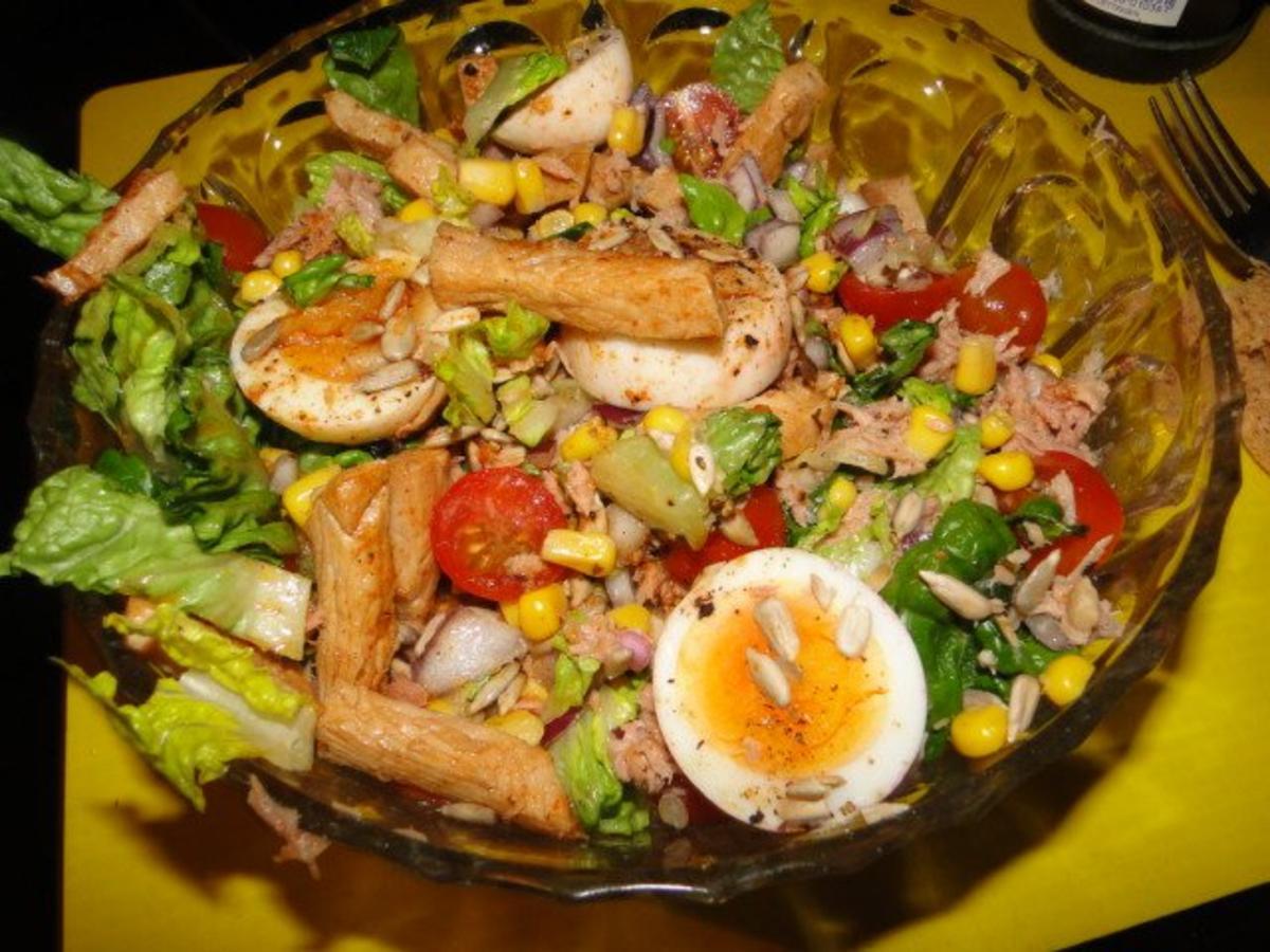Salatherzensalat mit vielen leckeren Köstlichkeiten - Rezept By rezeptemaus