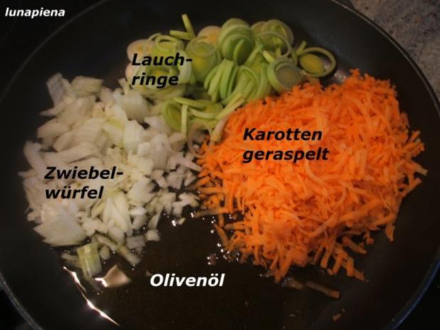 Knödel: Gemüseknödel auf Meerrettich-Käse-Soße - Rezept - Bild Nr. 3